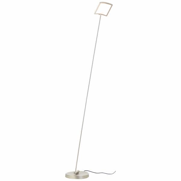 LED Standleuchte, 1-flammig, 1x 8W LED integriert, 1x 880 Lumen, 3000K, , Metall / Kunststoff, nickel eloxiert