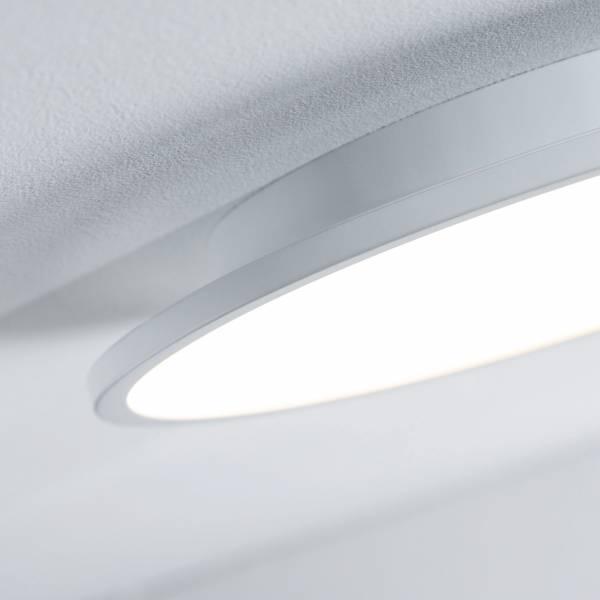 led panel 10w deckenleuchte deckenlampe 25 cm rund warmwei metall wei ebay. Black Bedroom Furniture Sets. Home Design Ideas