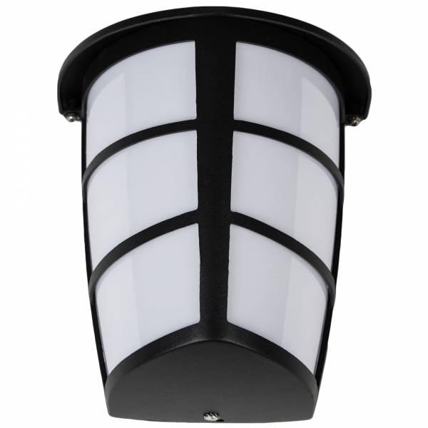 Klassische LED Außenwandleuchte im modernen Design, 1x 7W GX53 LED inkl., 550 Lumen, 3000K warmweiß, Metall / Kunststoff, schwarz / weiß