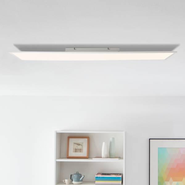Lightbox LED Panel Aufbaupaneel Deckenlampe flächiges Licht 120x30cm warmweißes Licht 40W, 4000lm Metall/Kunststoff, weiß