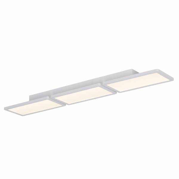 LED Deckenaufbau-Panel, 3x 13.3W LED integriert, 3x 800 Lumen, 3000K, , Aluminium / Kunststoff, weiß matt