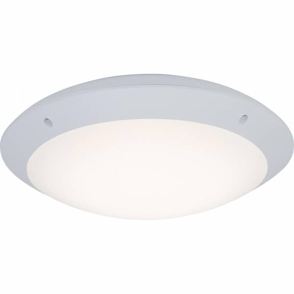 Moderne LED Außenwandleuchte, 1x 12W LED integriert, 1000 Lumen, 4000K kaltweiß, Kunststoff, weiß