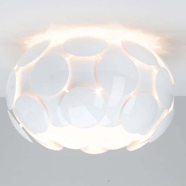 Deckenleuchte im modernen Design, Ø 41 cm, 5x E27 max. 25W, Kunststoff / Metall, weiß