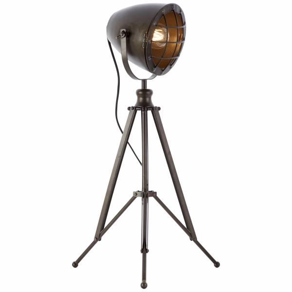 Tischleuchte, 1x E27 max. 40W, Metall / Glas, schwarz stahl LB00001403