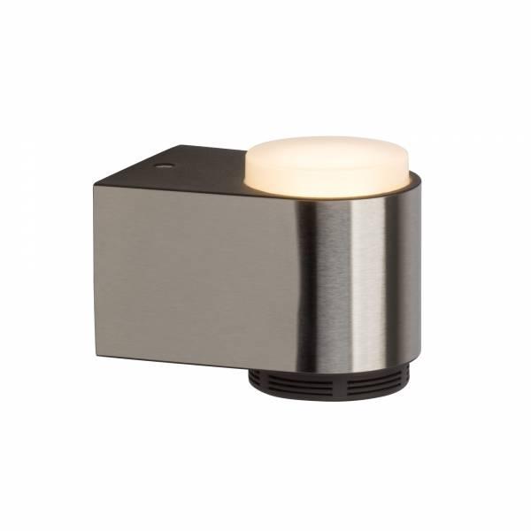 Moderne 3W LED Badleuchte Wandleuchte mit Bluetooth-Lautsprecher, IP44, 230 Lumen, 3000K warmweiß, Metall / Kunststoff, chrom / weiß