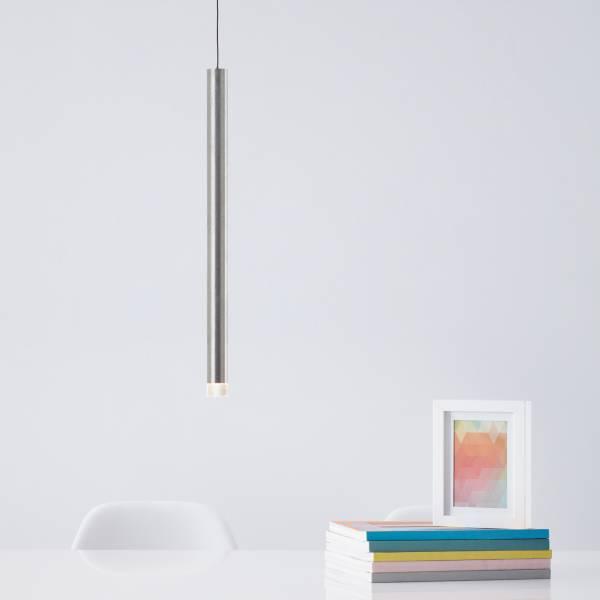 Dekorative Pendelleuchte, 1x max. 5 Watt Metall / Kunststoff, alu
