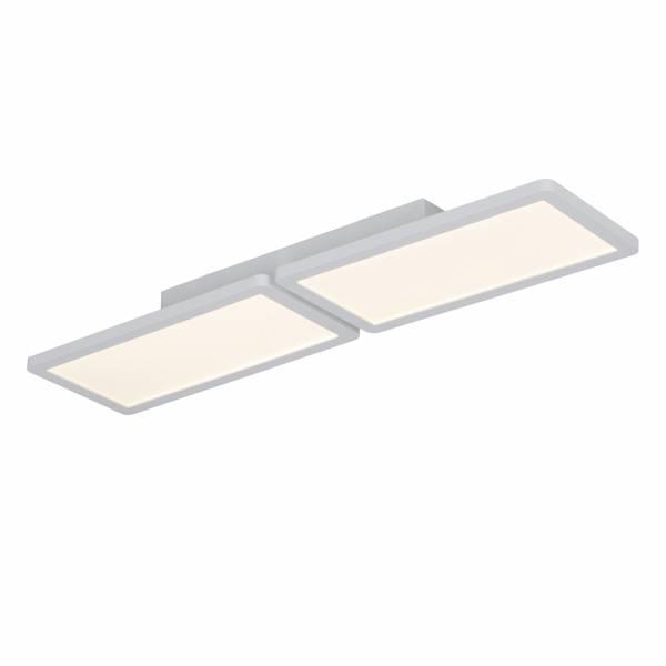 LED Deckenaufbau-Panel, 2x 15W LED integriert, 2x 850 Lumen, 3000K, , Aluminium / Kunststoff, weiß matt