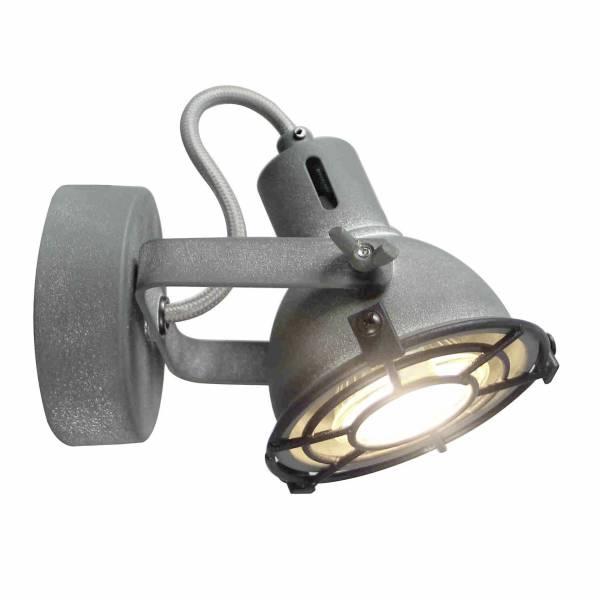 LED Wandspot, 1x 4W LED-Reflektorlampe inklusive, 1x 350 Lumen, 3000K, , Metall, grau Beton