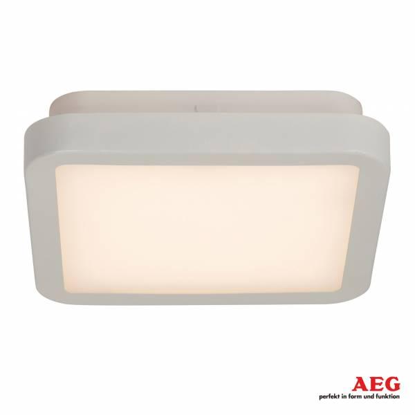 AEG 17W LED Deckenleuchte im schlichten Design, 1050 Lumen, 3000K warmweiß, Metall / Kunststoff, weiß