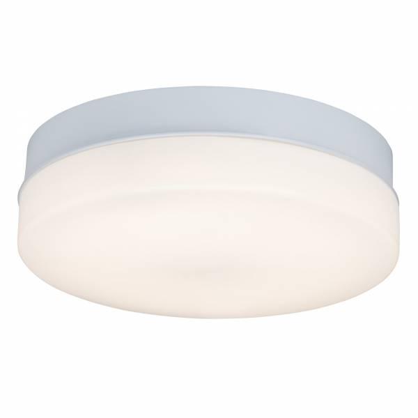 LED Wand- und Deckenleuchte 36cm mit Fernbedienung dimmbar (max. 1.600 Lumen), Lichtfarbe wählbar (3000K - 6000K); IP44 spritzwassergeschützt, Metall / Kunststoff, weiß