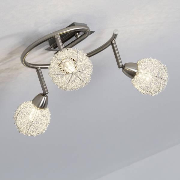 LED Spotspirale, 3-flammig, 3x 3.5W LED integriert, 3x 320 Lumen, 3000K, Metall, eisen