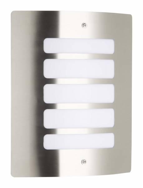 Außenwandleuchte, 1x E27 max. 60W, Edelstahl / Kunststoff, edelstahl