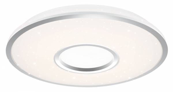 LED Wand- und Deckenleuchte 98cm XXL, 1x 80W LED integriert, 1x 6500 Lumen, 3000-6000K, , Metall / Kunststoff, weiß / silber
