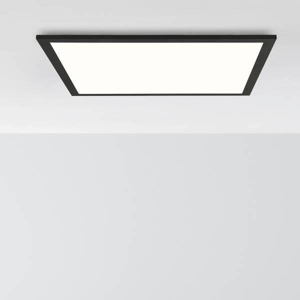 LED Deckenaufbau-Paneel 40x40cm, 24 Watt, 4000 Kelvin; Metall / Kunststoff, Schwarz / Weiß