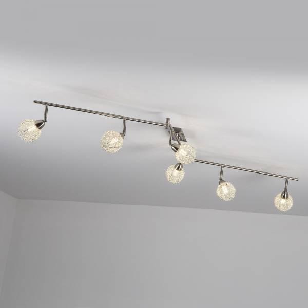 LED Spotbogen, 6-flammig (Z-Form), 6x 3.5W LED integriert, 6x 320 Lumen, 3000K, Metall, eisen