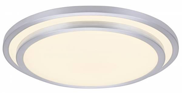 LED Wand- und Deckenleuchte 78cm XXL, 1x 80W LED integriert, 1x 6500 Lumen, 3000-6000K, , Metall / Kunststoff, alu / weiß