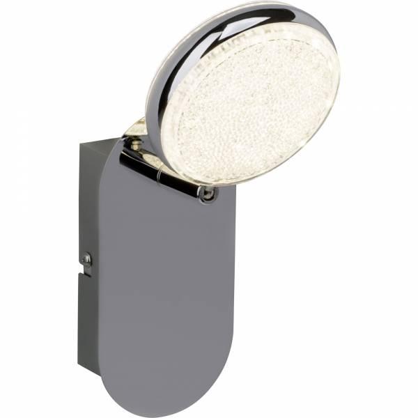 LED Wandspot, 1x 6W LED integriert, 1x 260 Lumen, 3000K, , Metall / Kunststoff, chrom