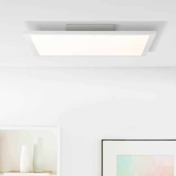 LED Panel Deckenleuchte, 40x40cm, 1x 24W LED integriert, 1x 3120 Lumen, 4000K, Metall / Kunststoff, weiß / kaltweiß