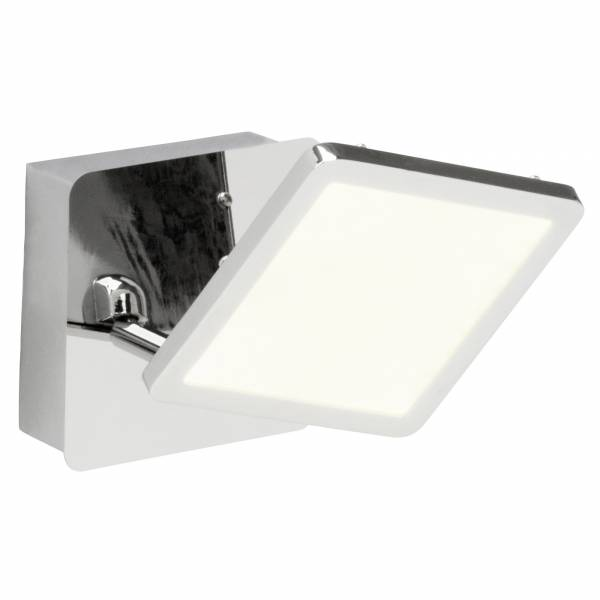 LED Wandspot, 1x 5W LED integriert, 1x 500 Lumen, 3000K, , Metall / Kunststoff, chrom