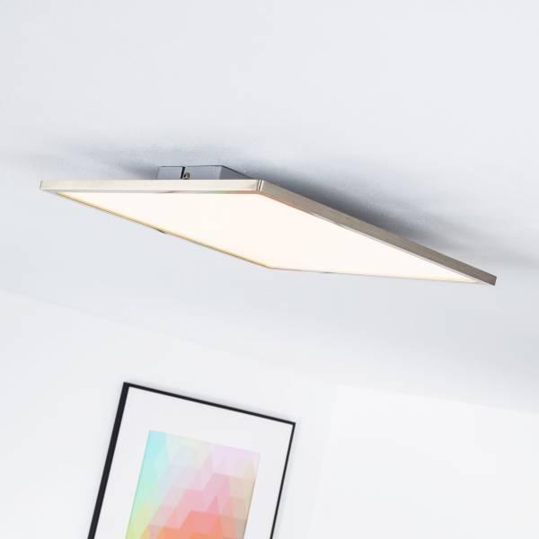 LED Panel für Deckenaufbau, dimmbar, 35 x 35 cm eckig, 1x 20W LED integriert, 2000 Lumen, 3000K warmweiß, Metall / Kunststoff, eisen