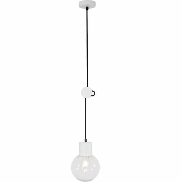 Pendelleuchte, 1-flammig, 1x E27 max. 60W, , Glas / Metall, weiß