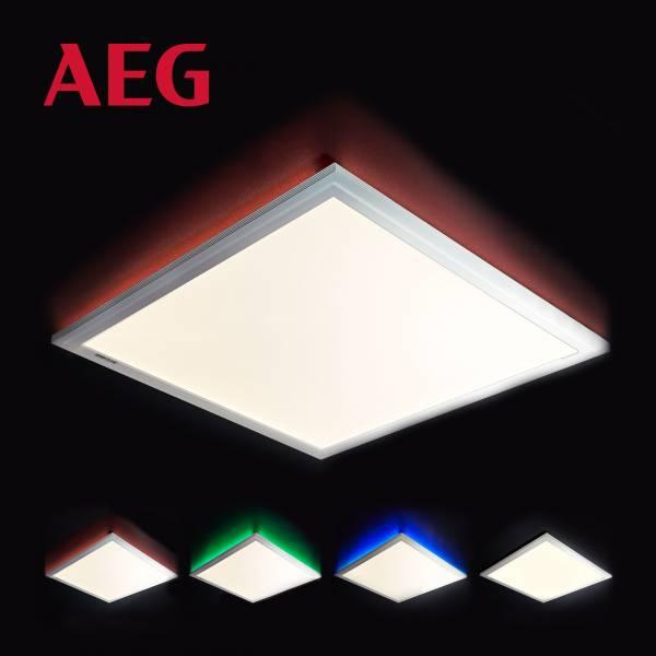 Merrie LED Deckenaufbau-Paneel 42x42cm RGB sand/weißMetall / Kunststoff, sand / weiß
