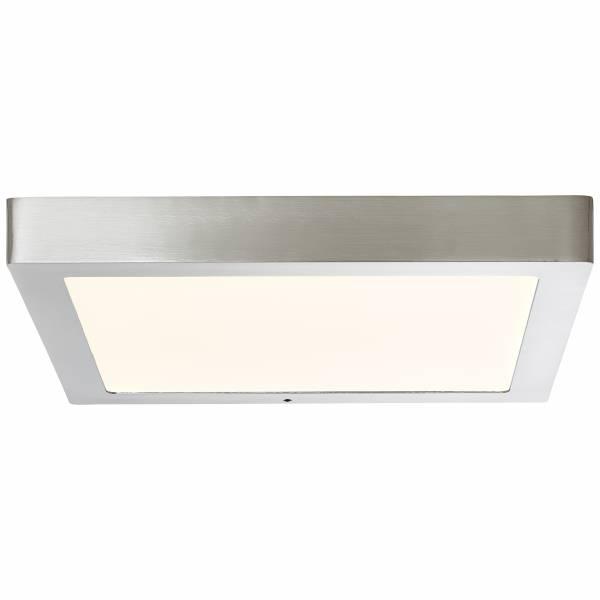Smarte LED Aufbauleuchte/lampe per App steuerbar, 1x 24W LED integriert, 1x 1850 Lumen, 2700-6500K, Metall / Kunststoff, nickel eloxiert
