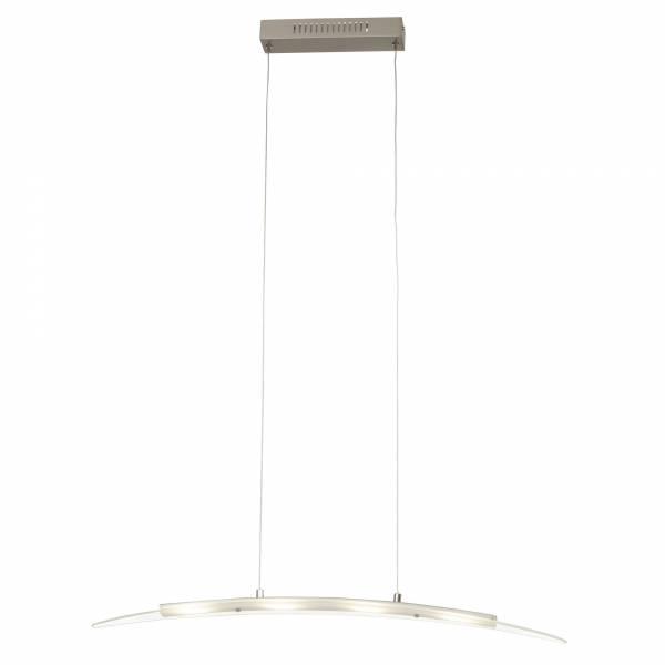 LED Pendelleuchte, 4-flammig, 4x 4.5W LED integriert, 4x 360 Lumen, 3000K, , Metall / Glas, eisen