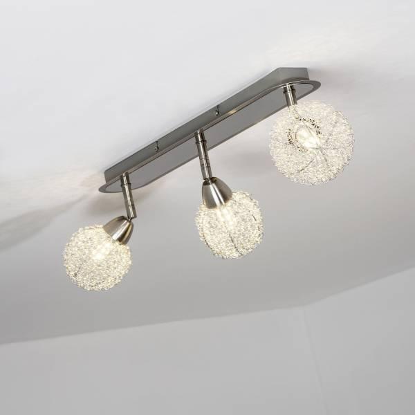 LED Spotrohr, 3-flammig, 3x 3.5W LED integriert, 3x 320 Lumen, 3000K, Metall, eisen