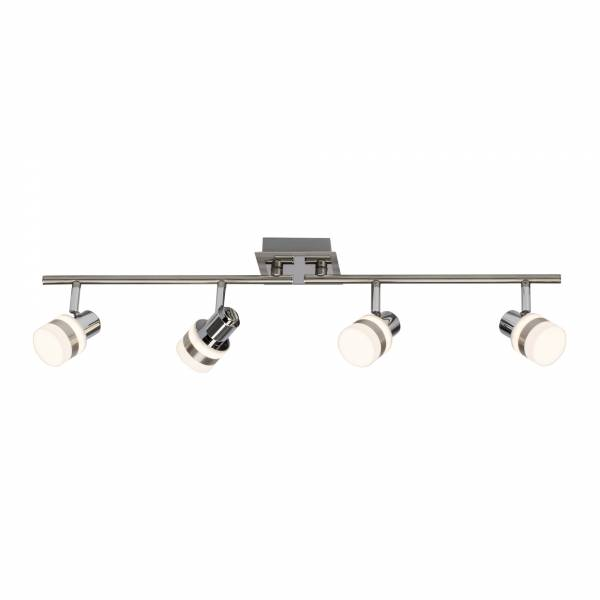 LED Spotrohr, 4-flammig, drehbar, 4x 4.2W LED integriert, 4x 375 Lumen, 3000K, , Metall / Kunststoff, eisen / chrom