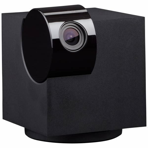 Smarte rotierbare Kamera über WLAN, 4,5 Watt - von unterwegs aus steuerbarKunststoff / Metall, schwarz / anthrazit