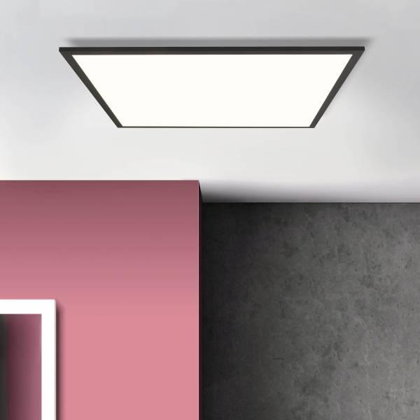 LED Deckenaufbau-Paneel 60x60cm, 1x 40W LED integriert, 1x 5200 Lumen, 4000K, Metall / Kunststoff, schwarz / weiß