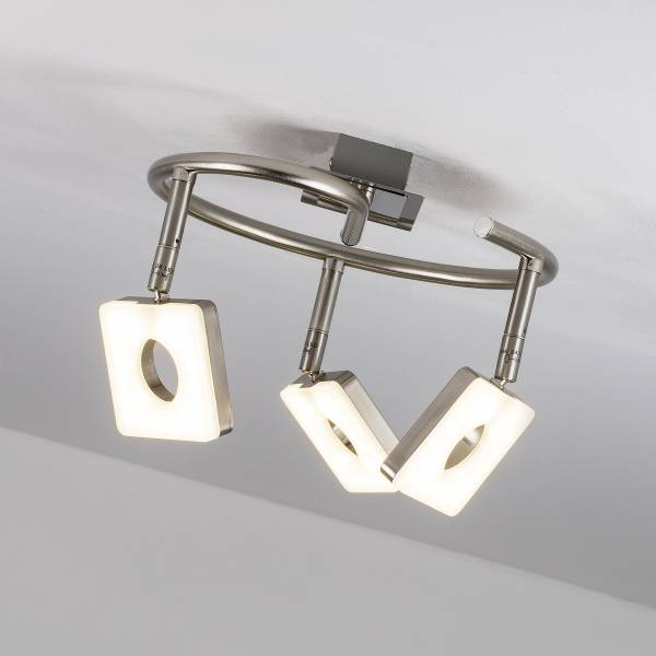 LED Spotspirale, 3-flammig, 3x 6W LED integriert, 3x 480 Lumen, 3000K, Metall / Kunststoff, eisen