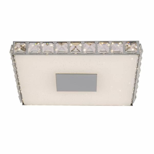 LED Deckenleuchte, 1x 18W LED integriert, 1x 1440 Lumen, 3000K, , Glas / Metall / Kunststoff, chrom