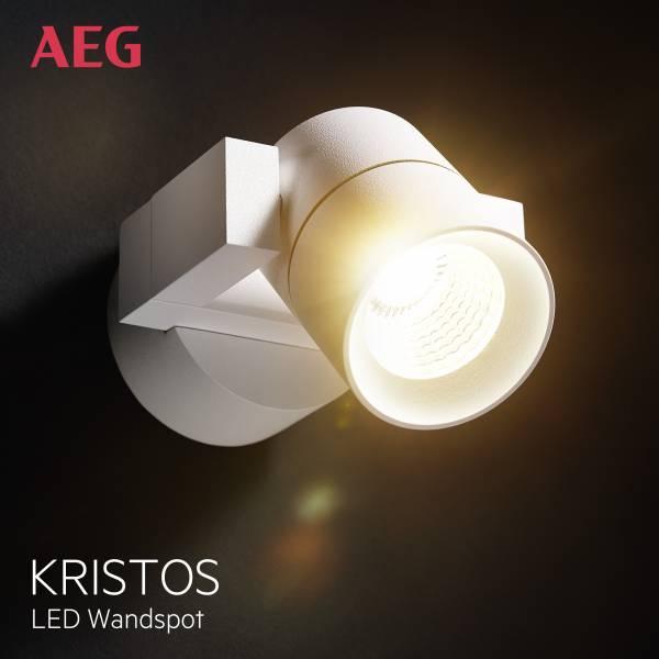 AEG LED Wandspot, 1x 4W LED integriert (COB-Chip)