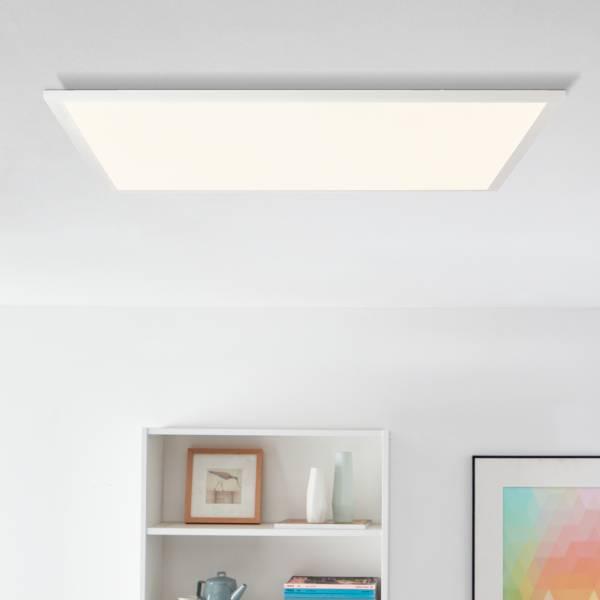 LED Panel Deckenleuchte 60x60cm, 36 Watt, 3600 Lumen, 2700 Kelvin aus Metall / Kunststoff in weiß