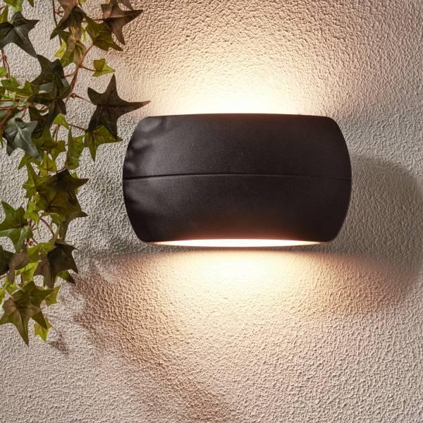 LED Außenwandleuchte, 1x 10W LED integriert, 1x 850 Lumen, 3000K, Aluminium-Druckguss / Kunststoff, schwarz matt