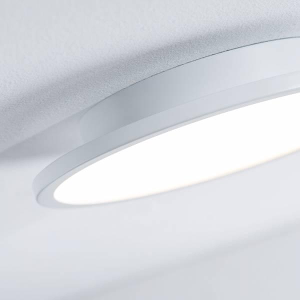 led panel 30w deckenleuchte deckenlampe 35 cm rund dimmbar metall wei ebay. Black Bedroom Furniture Sets. Home Design Ideas