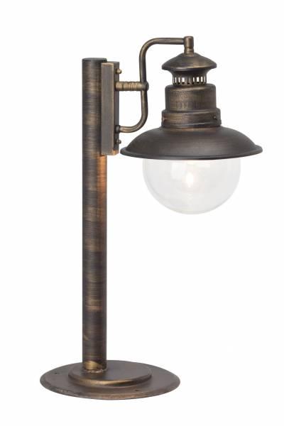 Außensockelleuchte, 1x E27 max. 60W, , Metall / Glas, schwarz gold