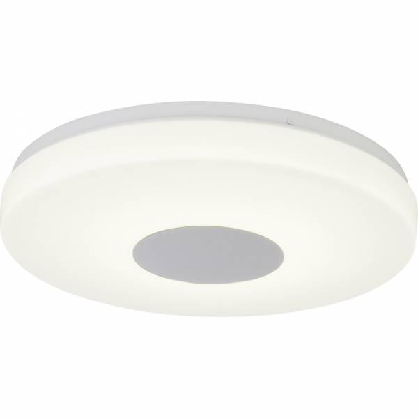 LED Wand- und Deckenleuchte, 1x 12W LED integriert, 1x 805 Lumen, 3000K, , Kunststoff / Metall, weiß / chrom