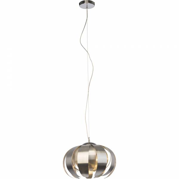 Dekorative Pendelleuchte im exklusiven Design, H 120 cm, 1x E27 max. 60W, Metall / Kunststoff, alu / chrom