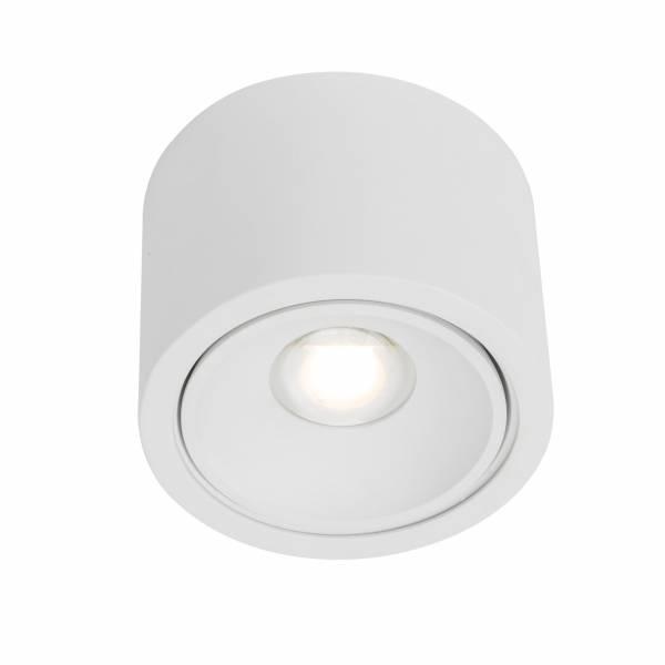 LED Wand- und Deckenleuchte, 1x 9W LED integriert (COB-Chip), 1x 850 Lumen, 3000K, , Aluminium-Druckguss, weiß
