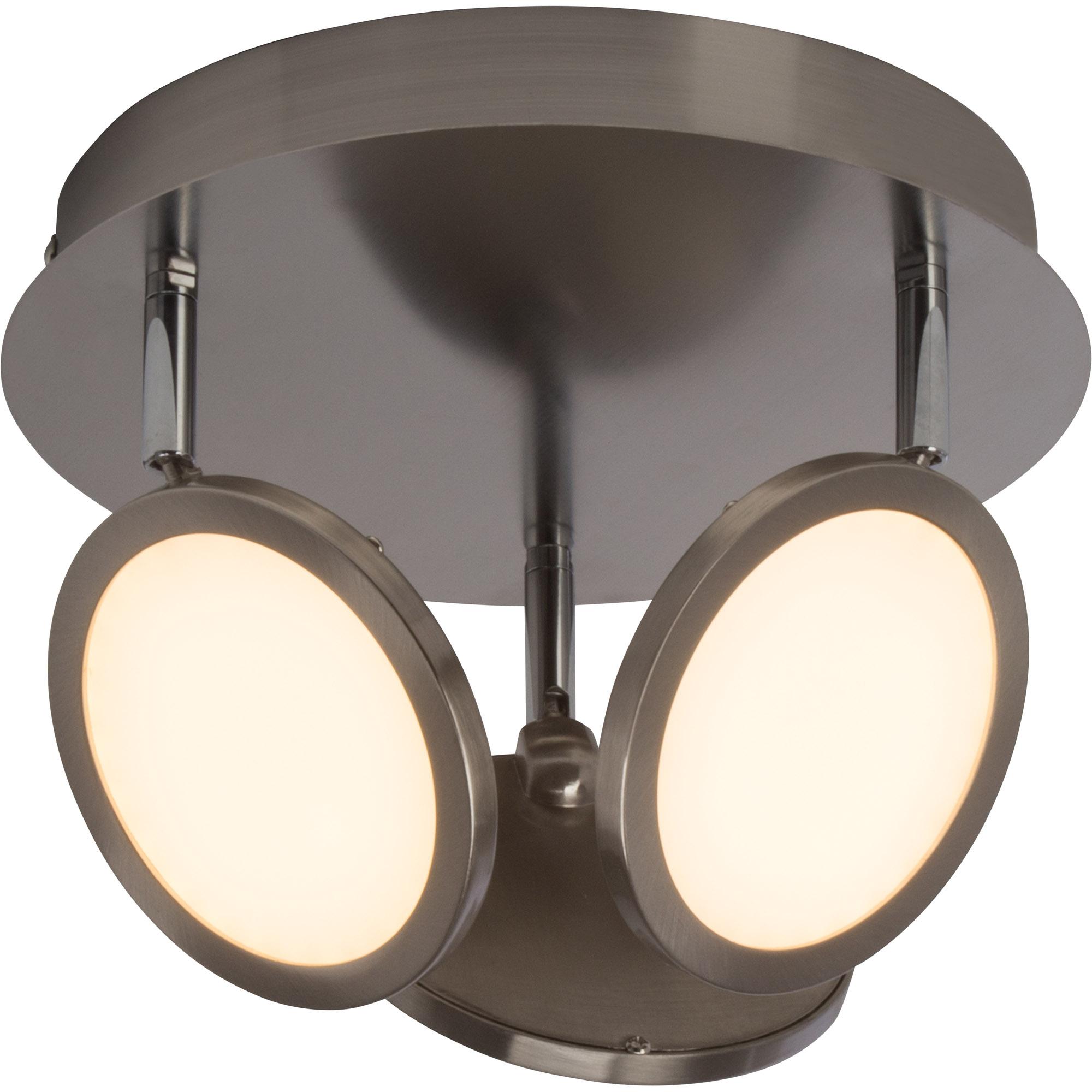 modernes led spotrondell deckenleuchte dimmbar 3x 5w led integriert 3x 500 lumen 3000k. Black Bedroom Furniture Sets. Home Design Ideas