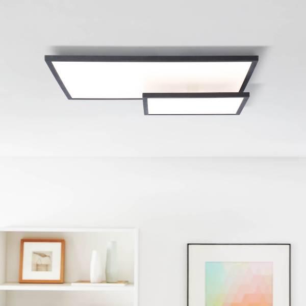 LED Panel Deckenleuchte mit Easydim Funktion, 62x47cm, Metalll / Kunststoff, schwarz / weiß