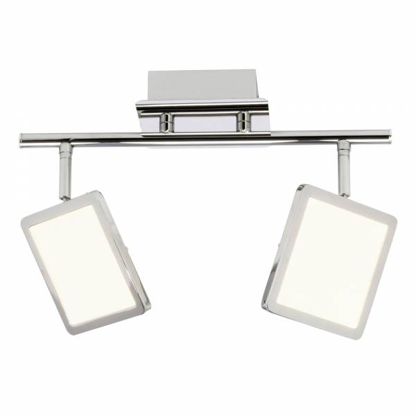 LED Spotrohr, 2-flammig, 2x 5W LED integriert, 2x 500 Lumen, 3000K, , Metall / Kunststoff, chrom