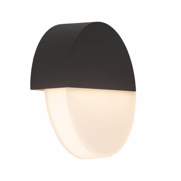 Moderne LED Außenwandleuchte, IP44, 9W LED integriert, 740 Lumen, 3000K warmweiß, Aluminium / Kunststoff, anthrazit