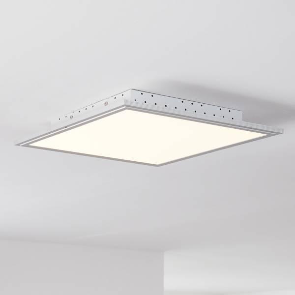 Smarte LED Panel Deckenleuchte per WiZ App steuerbar 42x42cm, 32 Watt, 2500 Lumen, 2700-6200 Kelvin aus Metall / Kunststoff in alu / weiß