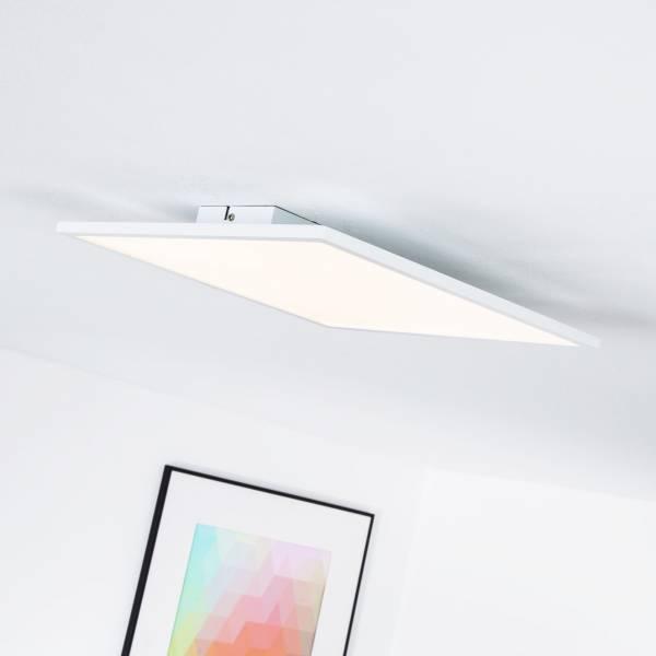 LED Panel für Deckenaufbau, dimmbar, 35 x 35 cm eckig, 1x 20W LED integriert, 2000 Lumen, 3000K warmweiß, Metall / Kunststoff, weiß