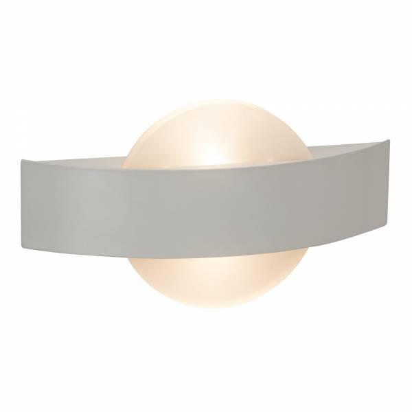 Moderne LED Wandleuchte, 2x 3,5W, 2x 380 Lumen, 3000K warmweiß, Metall / Kunststoff, weiß