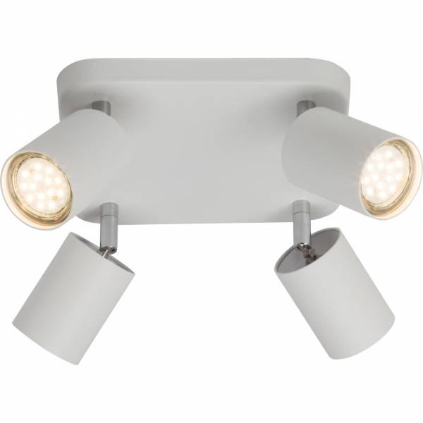 Moderner Spotplatte / Deckenleuchte im minimalistischen Design, 4x GU10 max. 35W, Metall, weiß